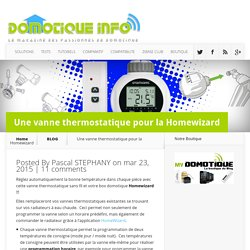 Une vanne thermostatique pour la Homewizard