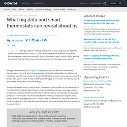 What big data and smart thermostats can reveal about us