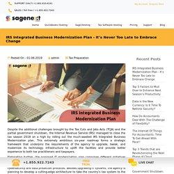 IRS Integrated Business Modernization Plan