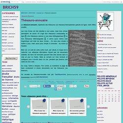 Thésauro-annuaire