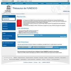 Thésaurus de l'UNESCO – descripteurs en français, anglais, espagnol et russe