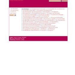 Thesaurus européen d'éducation