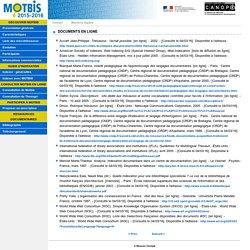 Site du thésaurus Motbis 2014 du Réseau Canopé - Documents en ligne
