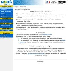 Site du thésaurus MOTBIS 2011 du SCÉRÉN - CNDP
