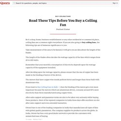 Read These Tips Before You Buy a Ceiling Fan - Buy Ceiling Fans - Quora