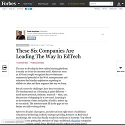 These Six Companies Are Leading The Way In EdTech