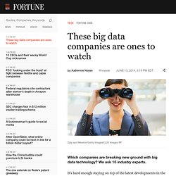 These big data companies are ones to watch