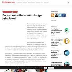 Do you know these web design principles? You Should.