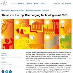 These are the top 10 emerging technologies of 2016