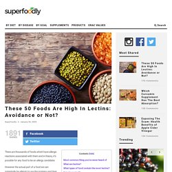 These 50 Foods Are High In Lectins: Avoidance or Not?