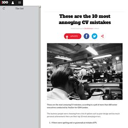 These are the 10 most annoying CV mistakes