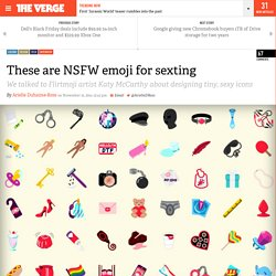 These are NSFW emoji for sexting
