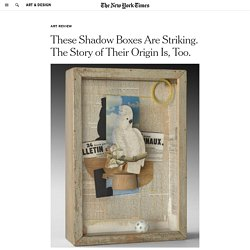These Shadow Boxes Are Striking. The Story of Their Origin Is, Too.