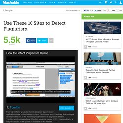 Use These 10 Sites to Detect Plagiarism