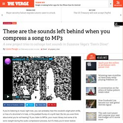 These are the sounds left behind when you compress a song to MP3