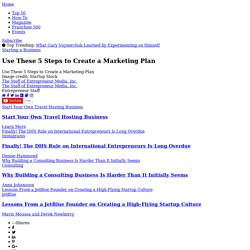 Use These 5 Steps to Create a Marketing Plan