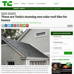 These are Tesla's stunning new solar roof tiles for homes