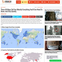 These 40 Maps Will Help You Understand The World Better. Cool!
