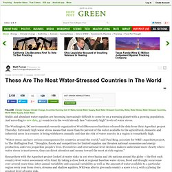 These Are The Most Water-Stressed Countries In The World