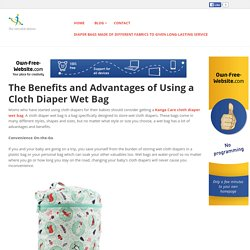 thesensiblemama - The Benefits and Advantages of Using a Cloth Diaper Wet Bag