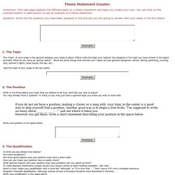 thesis outline builder