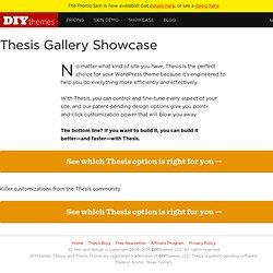 Thesis gallery showcase