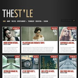 TheStyle Theme | Just another WordPress site