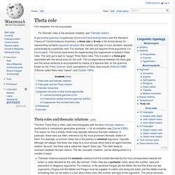 Theta role