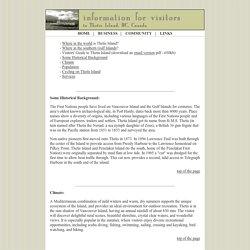 Thetis Island, BC, Canada, Community Website