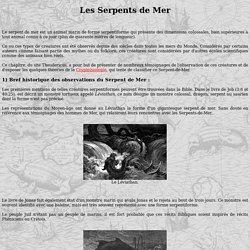 Theudericus : Cryptozoologie - Le serpent de Mer.