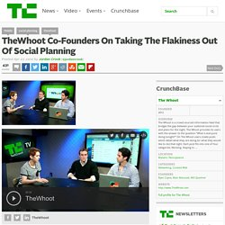 TheWhoot Co-Founders On Taking The Flakiness Out Of Social Planning