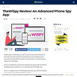 TheWiSpy Review: An Advanced Phone Spy App