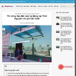 @MinhanWindow thi công cửa tự động tại Thái Nguyên