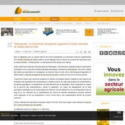 ACTU ENVIRONNEMENT 10/08/16 Thiaclopride : la Commission européenne augmente la limite maximale de résidus dans le miel