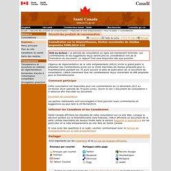 SANTE CANADA - 2014 - Consultation sur la thiamethoxam, limites maximales de résidus proposées PMRL2013-112