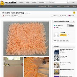 Thick and warm crazy rug