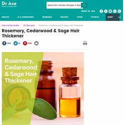 Hair Thickener with Rosemary, Cedarwood & Sage - Dr. Axe