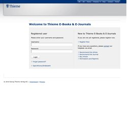 Thieme - Login