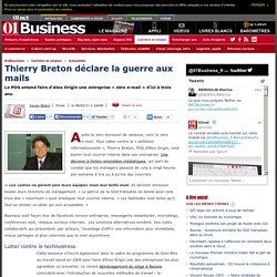 Thierry Breton fait la guerre aux mails