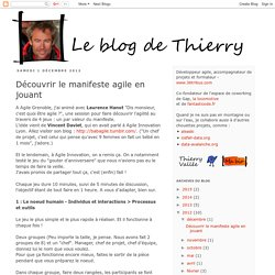 Le blog de Thierry: Découvrir le manifeste agile en jouant