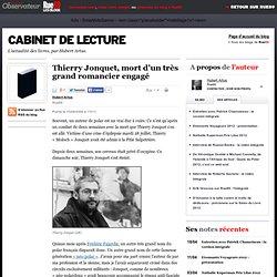 Thierry Jonquet, mort d'un très grand romancier engagé