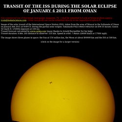Partial solar eclipse and transit of the Space Station from Oman