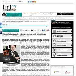 Thierry Vallat (avocat) : « Les six décrets sur la pénibilité au travail viennent d'être publiés au JO »