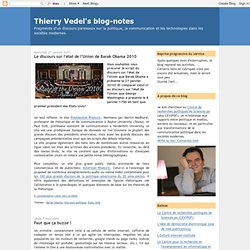 Thierry Vedel's blog-notes