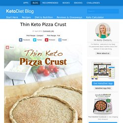 Thin Keto Pizza Crust