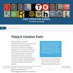 Thing 5: Curation Tools
