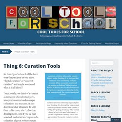 Thing 6: Curation Tools