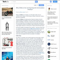 Why E-Bike is the next big thing the Commutation Industry?