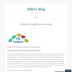Thing 10: Insights into Learning – Albie's Blog