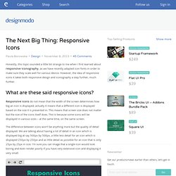 The Next Big Thing: Responsive Icons